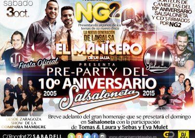 Pre-Party Salsaloneta en Manisero con NG2 2015